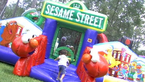 Houston Sesame Street Moonwalk Rentals- Call(281) 606-JUMP(5867) - Sky HIgh Party Rentals . COM
