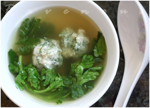 canh tan o, chrysanthemum soup, edible chrysanthemum