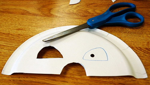 3 cut out eye and nose holes