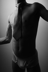 _DSC4960 (freshkale) Tags: gay light shadow portrait blackandwhite bw white man male men art neck arms underwear body muscle whitey chest fineart butt tie crotch stomach belly briefs fist form veins vpl shoulder lowkey abs seminude bulge tighty tightywhities