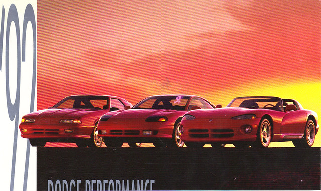 auto old classic cars hardtop car vintage photo automobile post antique postcard ad picture automotive literature advertisement card dodge 1992 collectible collectors daytona viper brochure coupe 92 advertisment iroc automobilia