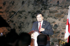 Saakashvili in Gori 07 August '09