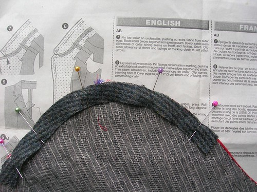 The strip used for the sleeve head is a 100% wool (pre-washed).