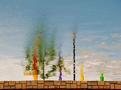 The Parade (rickhanger) Tags: abstract reflection water canal bluesky soe cocanal waterreflections bej abigfave platinumphoto colorphotoaward flickrdiamond goldstaraward rubyphotographer rickhanger