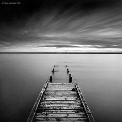 The Jetty (Gary Newman) Tags: uk longexposure sea england bw jetty dorset d700 nd106 monochromaticvisions