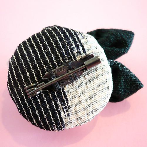 Kyo-yuzen KIMONO fabric brooch 21-03