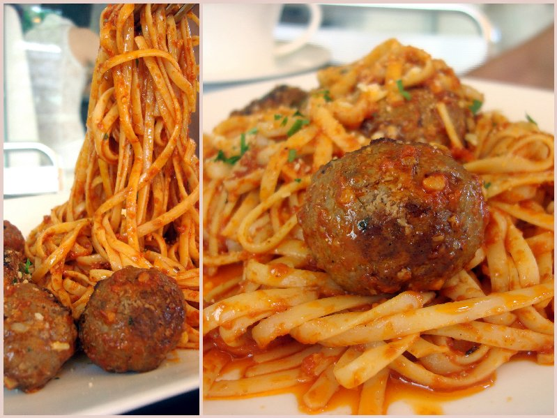 Meat ball Linguinni