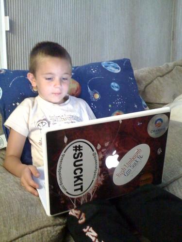 My little geek in training