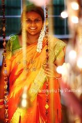 Glittering bride