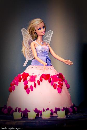 ...barbie cake...