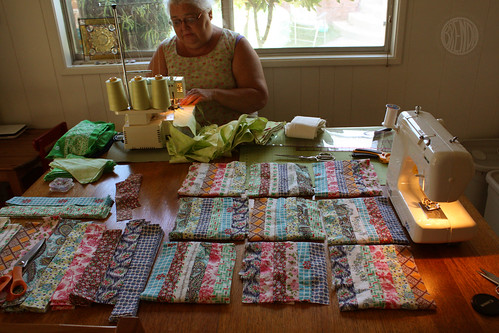 sewing with my Mom
