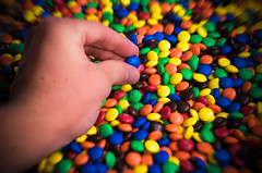 "Day 37/365 ""M&Ms"" (JustinPoliachik) Tags: blue justin red sea portrait orange brown mountain green classic colors yellow digital photoshop self canon project dark bag eos rebel milk rainbow mms colorful candy chocolate 5 five chocolates days m multiples ms million peanut multiple 365 mm candies pound lots millions lightroom delish 365days jp3553 poliachik"
