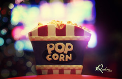 MOVIES TIME :D (  | Ruba , [ AWAY ]) Tags: blue red movie tv corn time bokeh pop popcorn saudi movies ksa