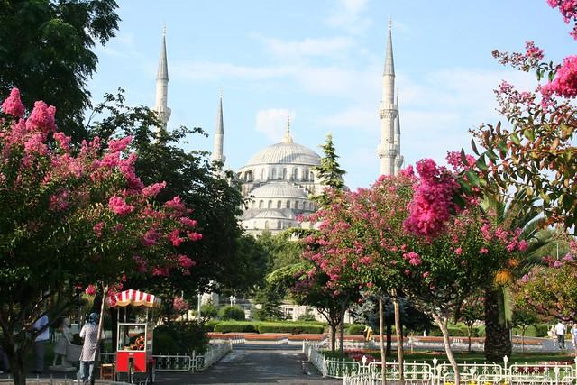 Fotografia da Mesquita Azul em Istambul