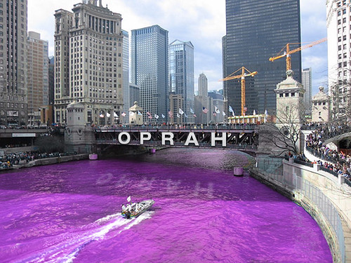 Will Oprah Dye the Chicago River the Color Purple?