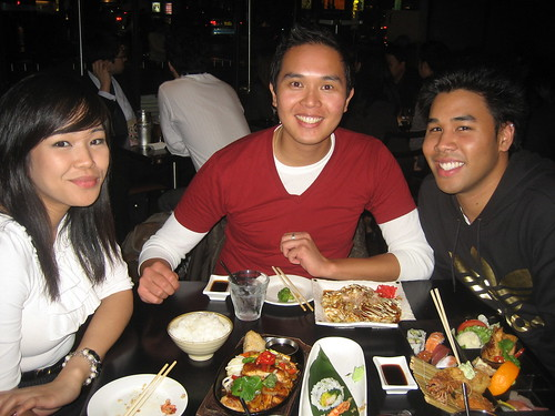Kristie, King and Jeff at Musashi, their favorite Japanese restaurant