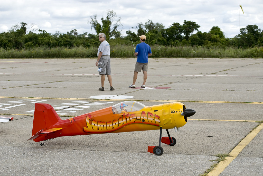 Remote controlled airplane at Floyd Bennett Field