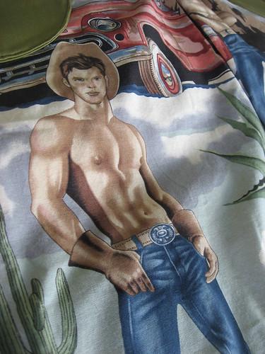 Topless Cowboy Apron