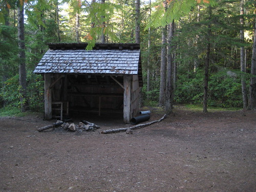 Shelter near Copper Creek