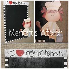 """Kit """"I love my kitchen"""" (Mariart's Atelier) Tags: quadro portachaves avisos portarecados recados pinturacountry cozinheira desenhojulysantiago julysantiagoquadroderecadosechavescozinheira"""
