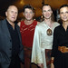 Robert and Luciana Duvall pose with Cavalia Performers Victor Zaitsez (center left) and Jesse Lee Cooper