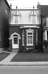 35 Macdonell Ave - October 23, 1988 (collations) Tags: houses toronto ontario architecture blackwhite documentary vernacular streetscapes secondempire builtenvironment 2ndempire urbanfabric gladstoneave mansardroofs secondempirestyle