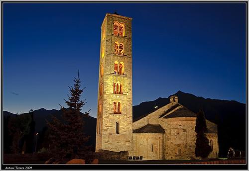 Sant Climent de Taüll by night