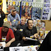 David Peterson, Jeph Loeb, and J Scott Campbell talk with and sign for fans