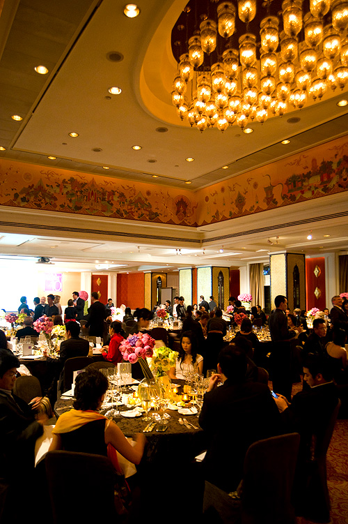 At the Four Seasons Bangkok World Gourmet Festival's Gala Dinner