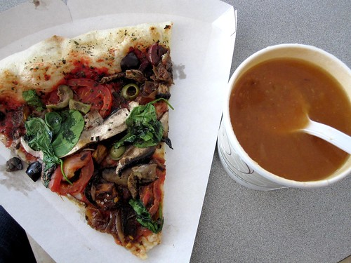 Pizza and Soup from Bread and Sons