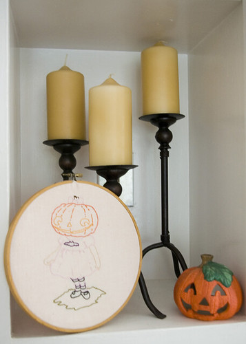 Pumpkin Girl displayed
