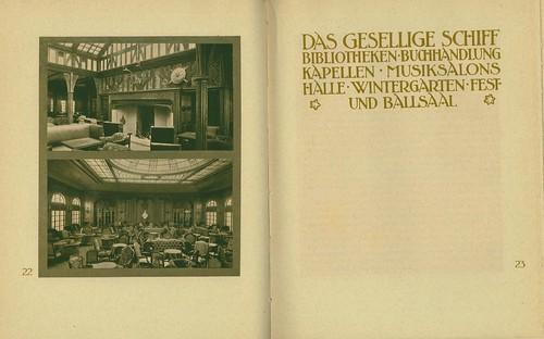 2-page spread, Turbinen-Schnelldampfer Imperator.