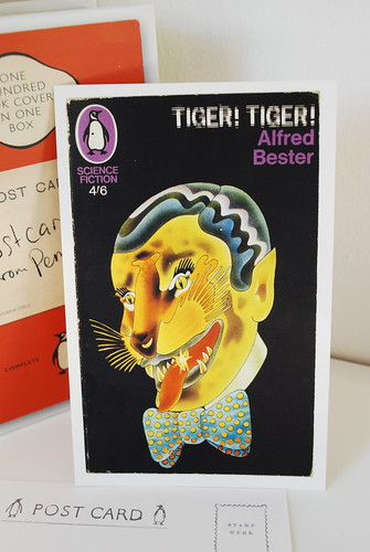 Tiger! Tiger! by Alfred Bester. 1967 Penguin edition. Cover by Alan Aldridge. Postcard in Postcards from Penguin.