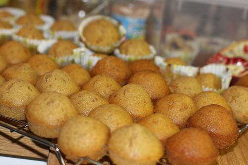Mini cupcakes pre-spiderized