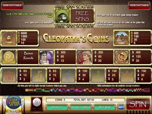 free Cleopatra's Coins slot mini symbol