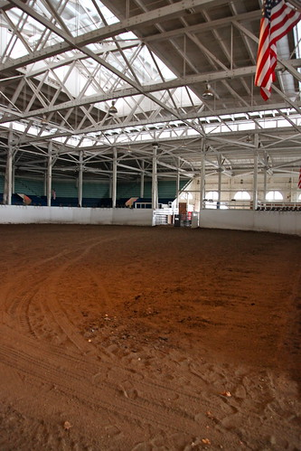 Horse show arena ground