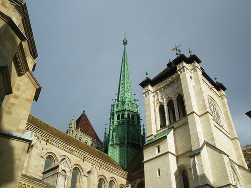 Saint Pierre Cathedral in Geneva - the most important church in the city - located at the city's highest point! Wonderful Switzerland! 02/11/2009! by U-g-g-B-o-y-(-Photograph-World-Sense-).