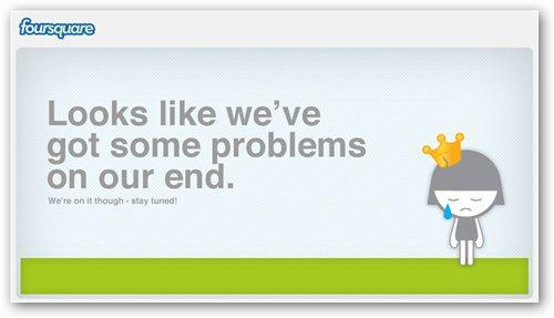 página error Foursquare