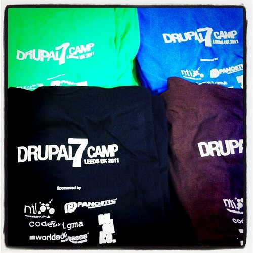 @Drupal7Camp t-shirts by MattFielding, on Flickr