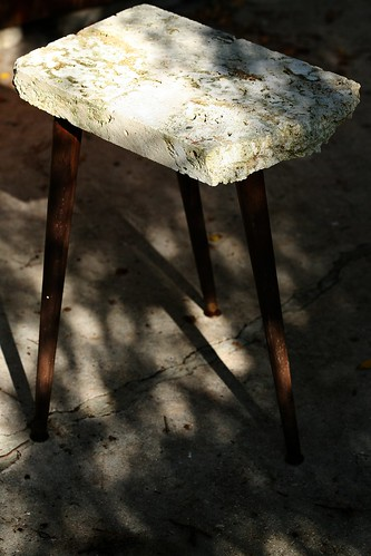 coral slab occasional table by BaubCat