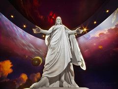 Christ the Lord Is Risen Today - Jesus Christ of Salt Lake City (janusz l) Tags: sky statue utah heaven christ god jesus replica saltlakecity planets mormon spiritual lds hdr sculptor christus mormons thechurchofjesuschristoflatterdaysaints janusz leszczynski bertelthorvaldsen northvisitorscenter 004227 06132011 herewewillbuildatempletoourgod