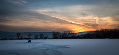 Experience the Moment (explored) (Kevin Rodde Photography) Tags: sunset lake snow ice clouds canon icefishing cirrus 6d rodde mallardlake forestpreservedistrictofdupagecounty fpddc flickrandroidapp:filter=none kevinrodde kevinroddephoto kevinroddephotography
