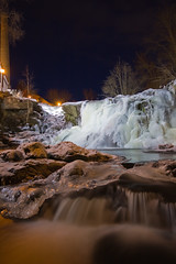 Ice and water (jonmartin ()) Tags: ice night waterfall twilight