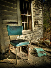 Vacant Seat (evanleavitt) Tags: county wood house texture abandoned broken glass rural ga georgia chair decay empty atmosphere olympus weathered lonely hdr oglethorpe e510 photomatix