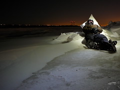 Sleeping on ice (Dany_M) Tags: winter white snow cold ice landscape snowshoe lumix long exposure hiver froid glace tz1