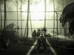 The Cult of Rapture (jackals) Tags: light art monster digital photoshop dark jungle cult rays tone beams biohazard rapture quarantine aplusphoto