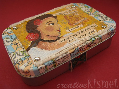 Altered tin business card holder regina lord of creative kismet ive been carrying an empty mint tin in my bag for months trying to think of something crafty to do with it i already use one for my echinaccea and reheart Gallery