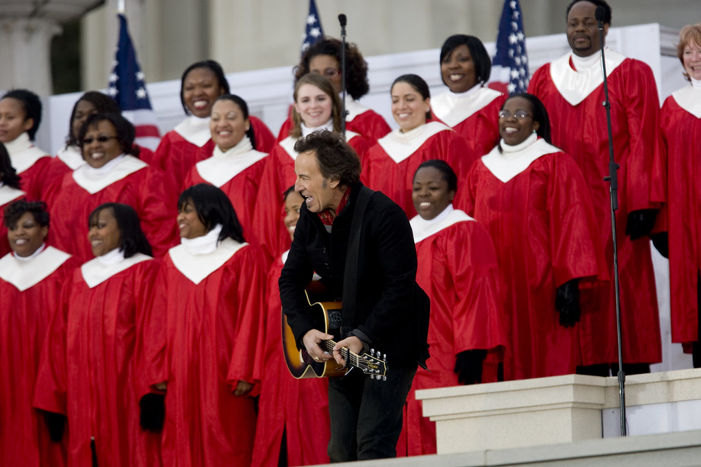 Bruce Springsteen at the Inaugural Concert  (Zbigniew Bzdak/Chicago Tribune/MCT)