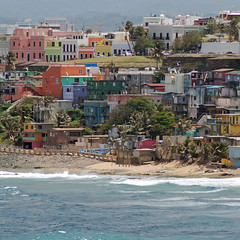 The color of poverty: La Perla (StGrundy) Tags: ocean poverty travel cruise vacation tourism water colors architecture buildings nikon colorful waves tour bright oldsanjuan puertorico pastel shoreline overcast thepearl architectural sanjuan springbreak citywalls april caribbean 2008 picturesque ghetto viejosanjuan slum caribe celebritymillenium sanjuanpuertorico laperla lavida celebritycruises travelphotography sanjuanantiguo celebritycruiseline d80 callenorzagaray laperladelviejosanjuan thepearlofoldsanjuan