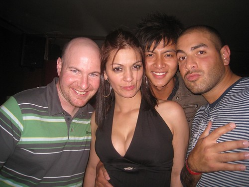 (from right) Nasser, Steven, Colombian beauty, me